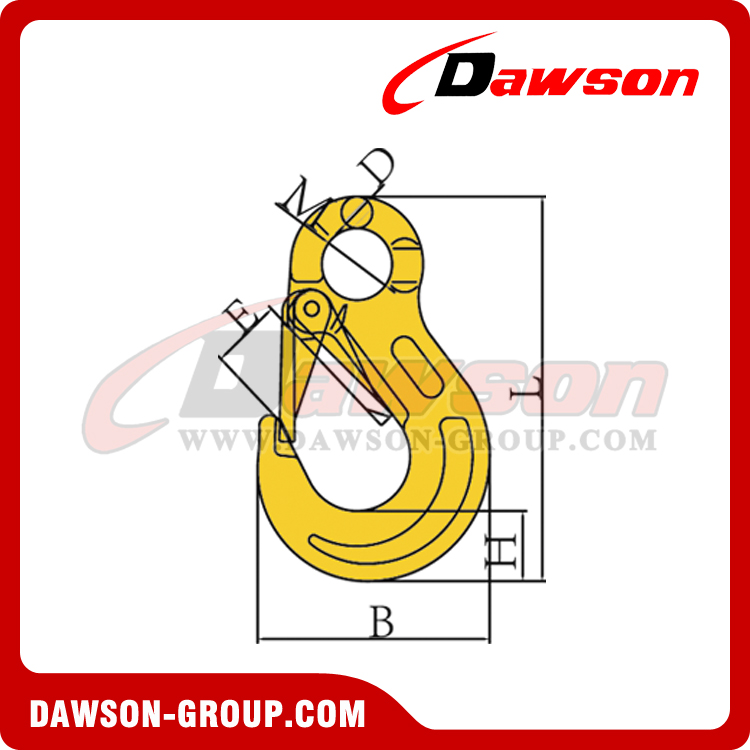 DS334 G80 EYE SLING HOOK WITH CAST HOOK DAWSON-GROUP-LTD.-CHINA-MANUFACTURER-FACTORY