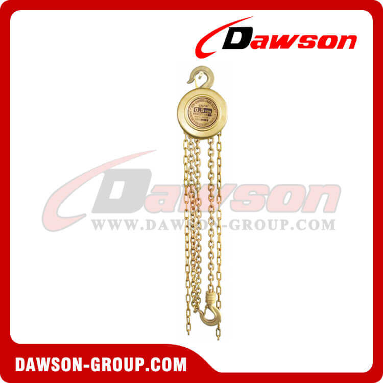 0.5T - 16T Non-sparking Chain Block / Explosion-proof Chain Hoist for Lowering Heavy Loads