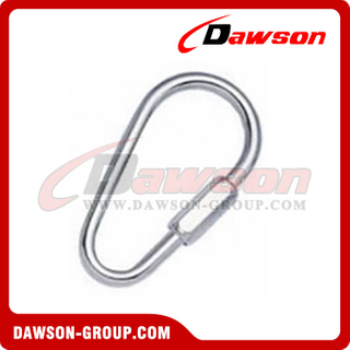Pear Shaped Quick Link with Zinc Plated