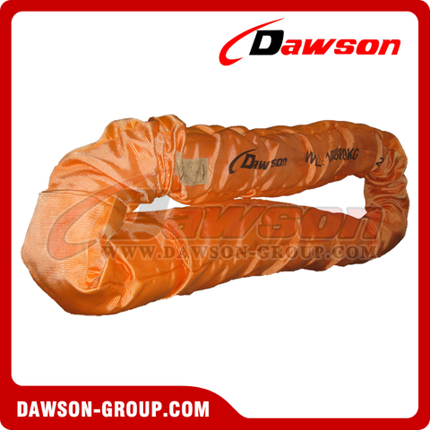 WLL 80T Polyester Round Slings AS 4497