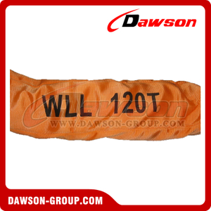WLL 120T Polyester Round Slings AS 4497