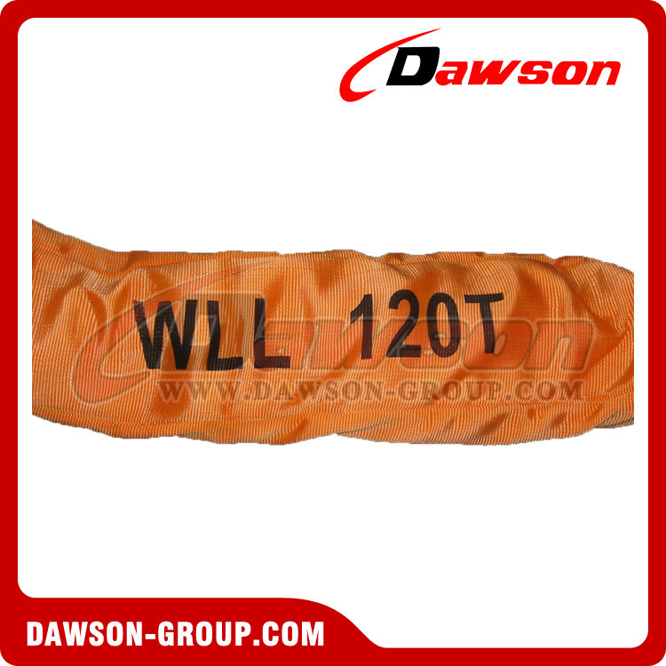 WLL 120T Polyester Round Slings