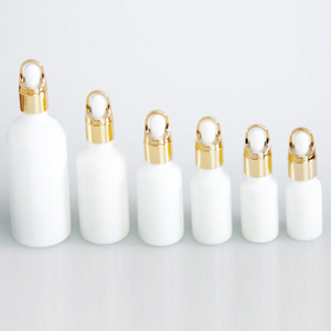 White Glass Dropper Bottles