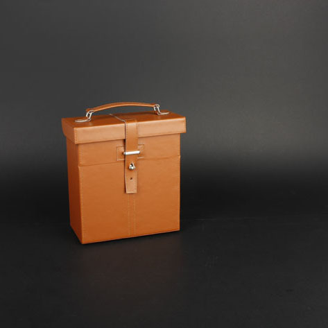 Wine Box Manufacturer leather pu canvas leather wine tote
