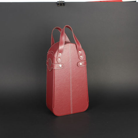 Wine Box Manufacturer red Leather bags wine