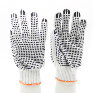Anti Slip Double Sides PVC Dots Cotton Gloves