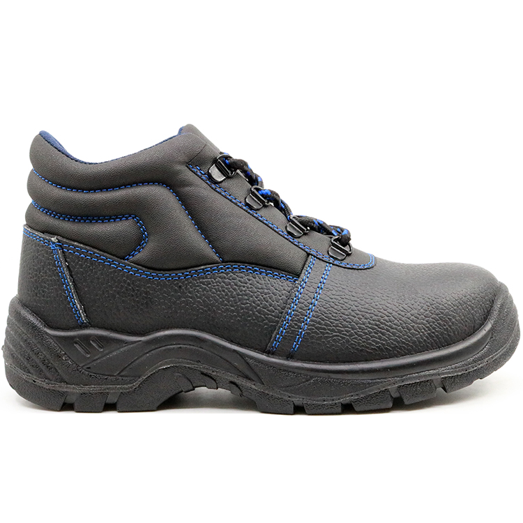 Anti Slip Leather Steel Toecap Mining Safety Shoes for Work