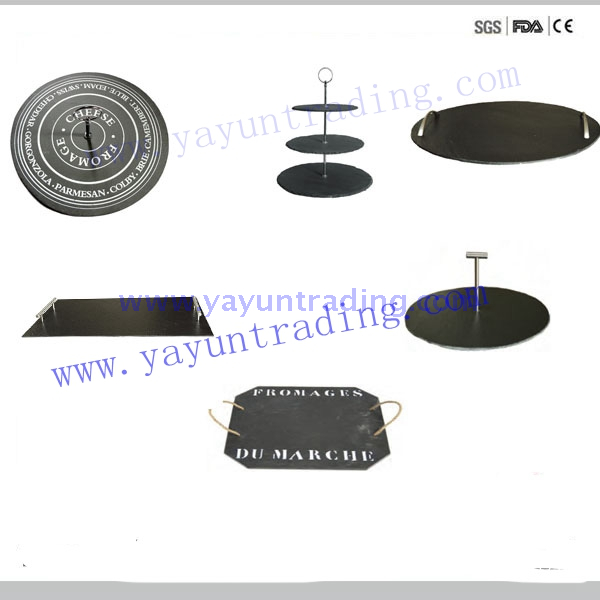 slate stone 2 tier and 3 tier cake stand and tray