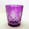 pine apple embossed glass candle holder