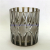 metallic matte amber colored glass candle container cup for home decoration