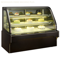 Cake Display Showcase Price Chiller con vidrio curvado para panadería G328FS