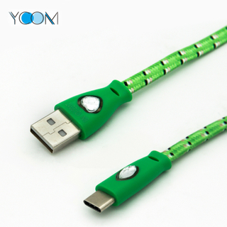 Charging USB Cable for Type C with LED Light