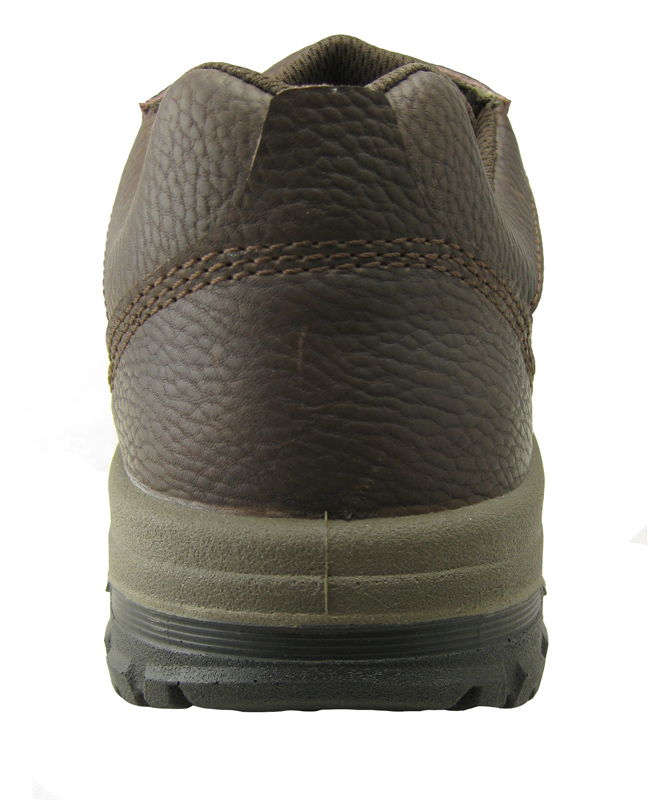 0161 embossed leather pu sole work shoes