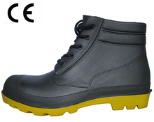 Have CE certificate steel toe ankle pvc rain boots