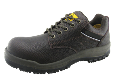 Low cut PU injection leather safety shoes