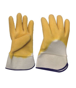 3213 heavy duty latex gloves with jersey liner and pasted cuff