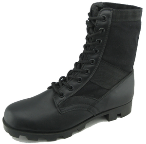 97069 vulcanized leather army boots