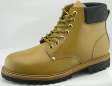 3076 split leather goodyear welted boots with steel toe