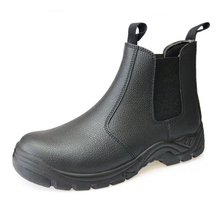 HA5010 split embossed leather no lace fashionable safety shoes