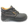 ENS012 black leather steel toe working safety shoes for work men