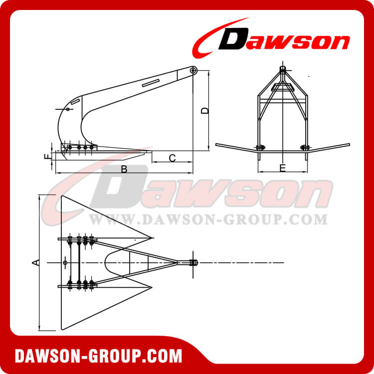Marine Double Shank Anchor Stingray High Holding Power Anchor Type B - China Manufacturer Supplier
