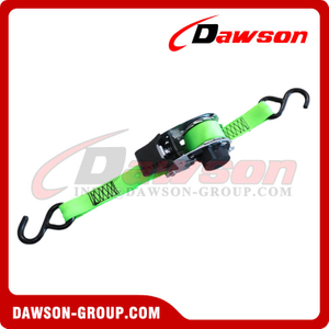"25MM × 1.8M DAWSON Automatic Retractable Ratchet Tie Down Straps, 1"" x 6 Feet Cargo Ratchet Lashing Belt"