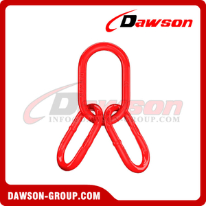 DS094 A347 G80 U.S. Type Super Alloy Steel Welded Master Link Assembly for Wire Rope Lifting Slings / Chain Slings