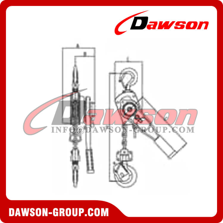 DSHS-X Ratchet Lever Hoist with Overload Protection - China Supplier