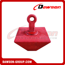 Red Painted Casting Mooring Pyramid Anchor