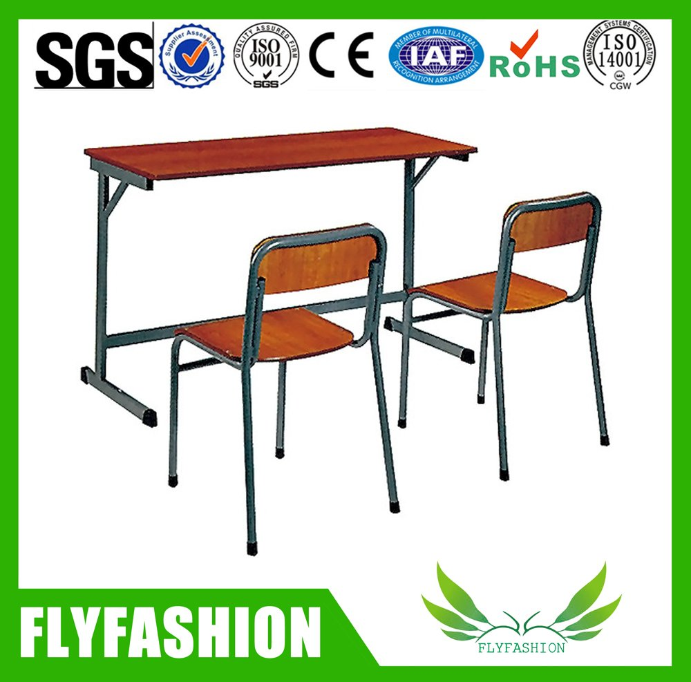 Hot sale comfortable school furniture study three table chair set(SF-12D)