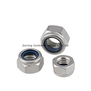 din982 metric stainless steel hex insert self locking nut fastenal for car wheels