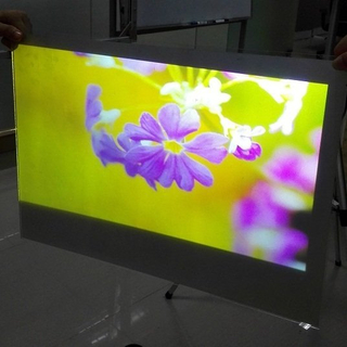 Self Adhesive Double White Rear Projection Film For Shop Window