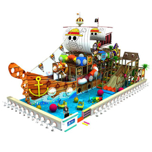 Priate Ship Themed Kids Soft Indoor Playground Equipment with Slide