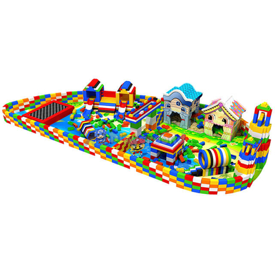 Amusement Playhouse Soft Indoor Toddler Playground with Building Blocks