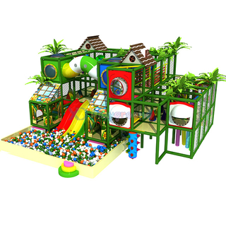 Jungle Themed Small Children Soft Indoor Playground with Ball Pit