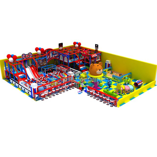 England Themed Kids Aumsement Park Soft Indoor Playground with Ball Pit