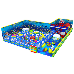 Ocean Themed Amusement Park Foam Padded Ball Pit for children