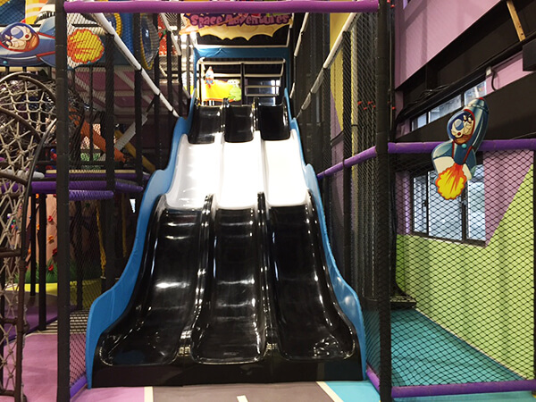 Amusement Park Indoor Playground Equipment with big slide