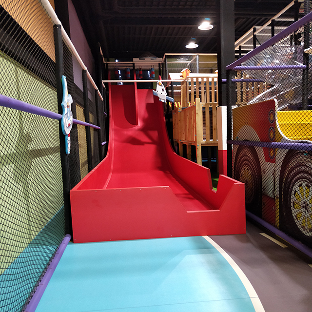 long slide indoor playground