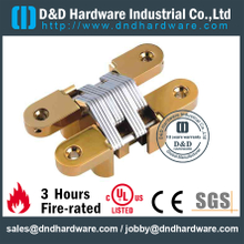 Stainless Steel 316 Half Overlay Invisible Hinge for Interior Wooden Door-25x118mm-SS-CC07