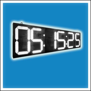 24 Inches Outdoor LED Digit Time & Temperature Clock Display