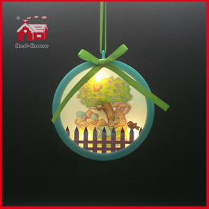 Hanging Decoration Colorful LED Decoration Christmas Crafts LED Christmas Decoration
