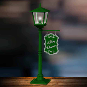 Green Mini Christmas Table Lamp Led Light for Desk Ornaments