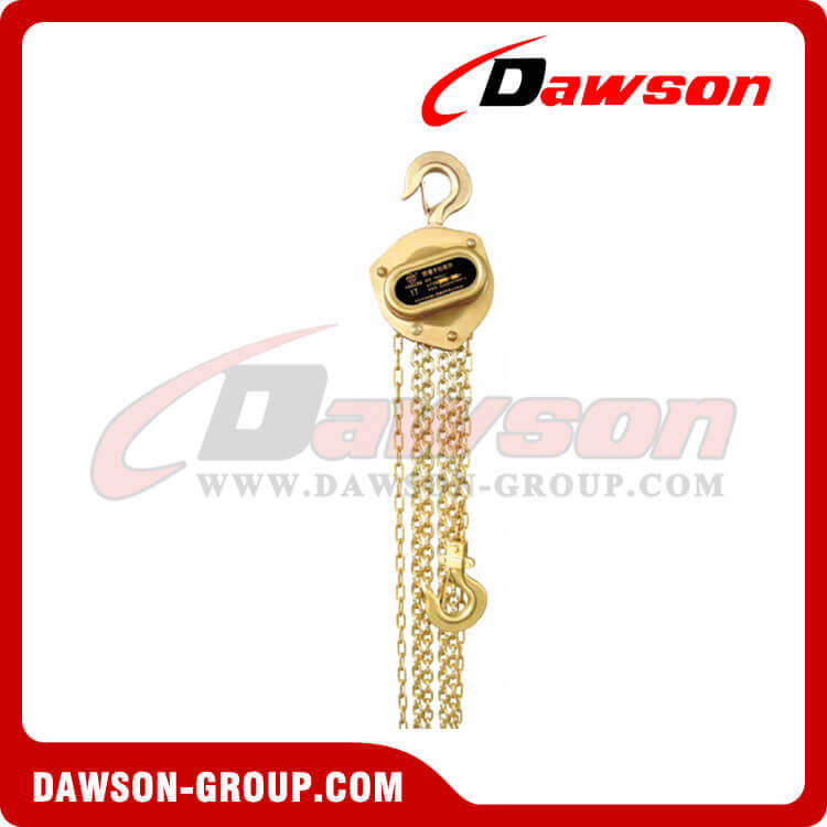 Non-Sparking Chain Hoist / Spark Resistant Chain Block for Lowering Heavy Loads