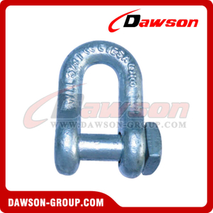 Forged Trawling Dee Shackle with Square Head Oversize Pin, Fishing Shackle