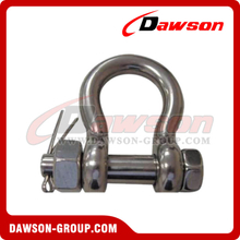 Stainless Steel Bolt Anchor Shackle with Safety Pin Nut