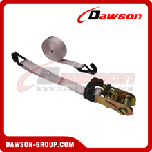1 inch 6 feet Rubber Coated Ratchet Strap with Wire Hooks