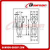 High Tensile Steel Cast Open Spelter Wire Rope Sockets