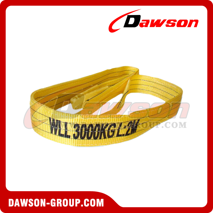WLL 3 Ton Polyester Webbing Slings - Lifting Slings