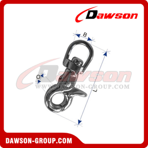 Stainless Steel Trigger Snap Hook (Swivel End)